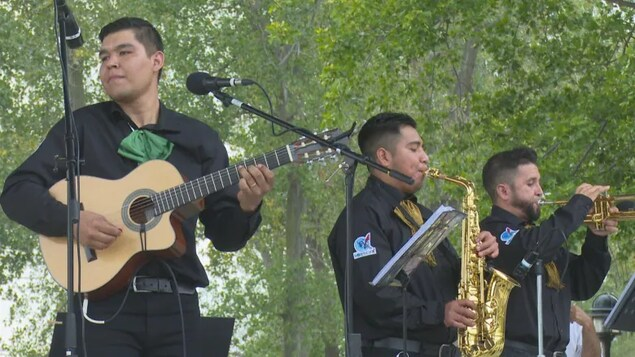 The group Latin Power Band played its first big show at Leamington, Ont.'s Seacliff Amphitheatre on Sept. 12.