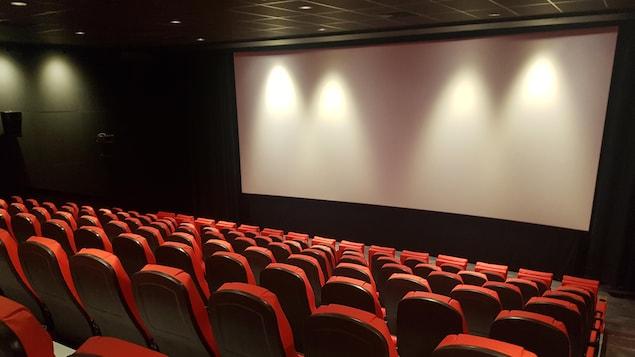 Une des nouvelles salles du cinéma Le Clap.