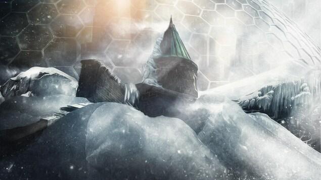 Le Grand Froid, une expérience virtuelle présentée au FVCQ, dès le 13 septembre. On voit une bulle sous la glace.