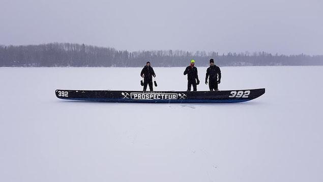 L'Équipe de canot à Glace Le Prospecteur - Eldorado Gold lance sa saison 2018