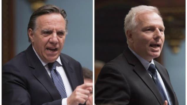 Le chef de la CAQ François Legault et le chef du Parti québécois Jean-François Lisée