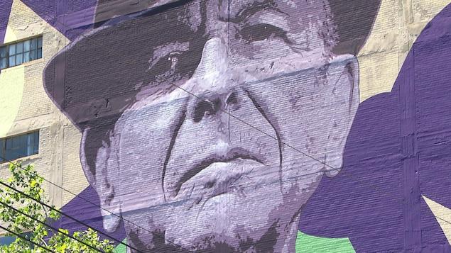 La murale de Leonard Cohen par Kevin Ledo