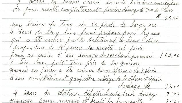 Une lettre de réclamation rédigée à al main en lettres cursives en 1930.