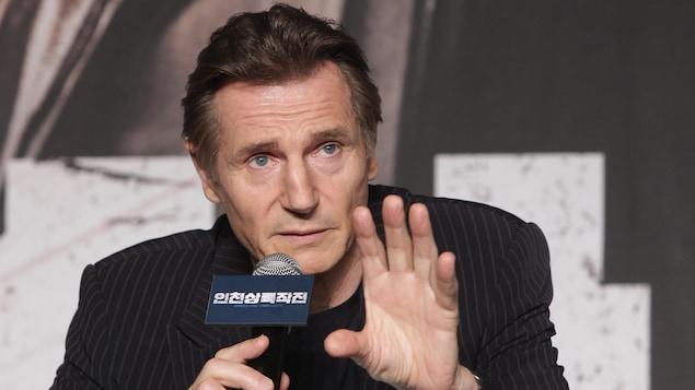 L'acteur Liam Neeson parle lors d'une conférence de presse pour faire la promotion d'un film à Séoul, en Corée du Sud, le 13 juillet 2016.