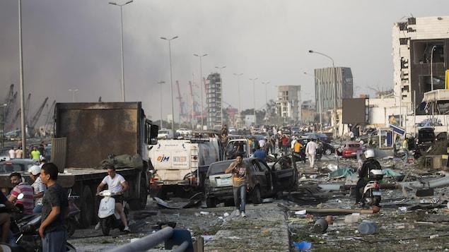 Ce sont 2750 tonnes de nitrate d'amonium qui ont pulvérisé Beyrouth, mardi. À titre de comparaison, Timothy McVeigh, le terroriste américain qui a perpétré l'attentat d'Oklahoma City qui a fait 168 morts en 1995, en avait utilisé 2 tonnes.