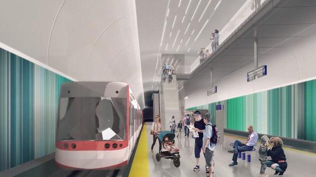 La Ville de Calgary aimerait construire une nouvelle ligne de train léger, la ligne verte.