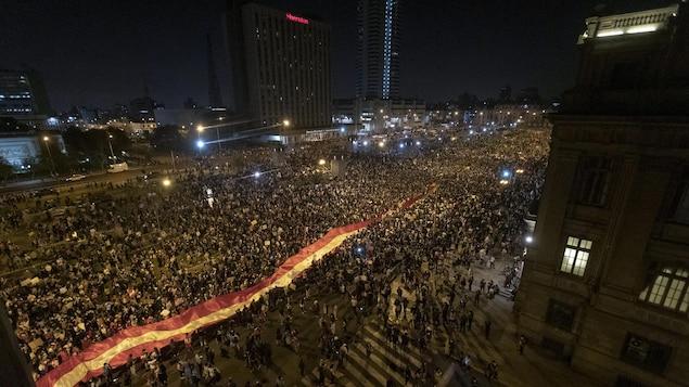 Manifestation à Lima.