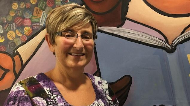 Linda Thériault, présidente du Syndicat des enseignants du programme francophone de la Colombie-Britannique
