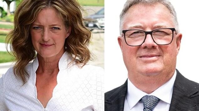 Deux portraits juxtaposés