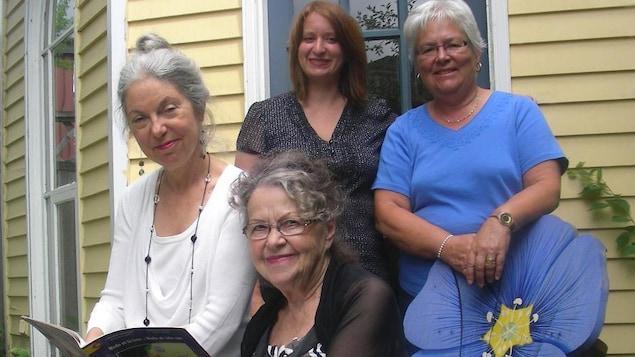 Lisa Lévesque, Louise Imbeault, Marie Cadieux et Marguerite Maillet