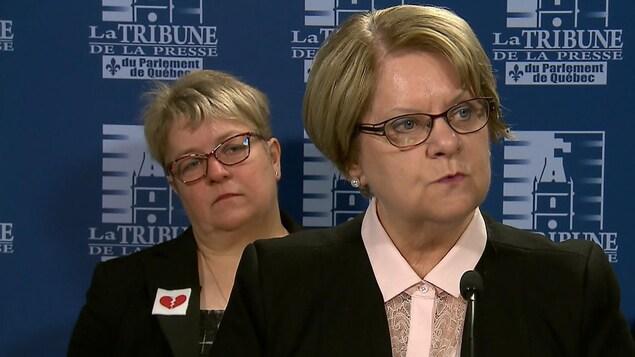 Lise Lapointe, présidente de l'Association des retraitées et retraités de l'éducation et des autres services publics du Québec.