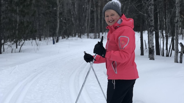 Lise Pichette sur ses skis.