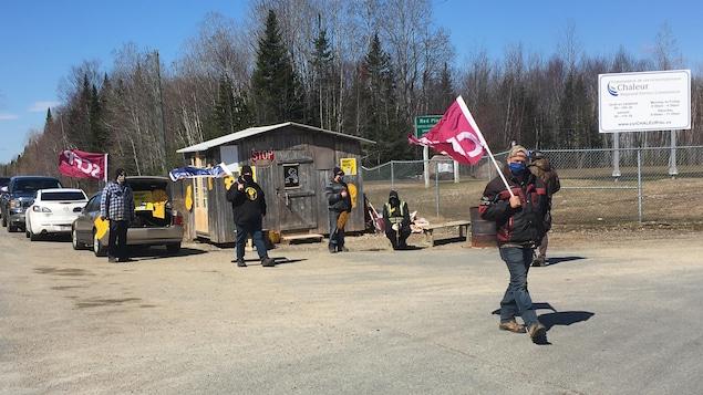 Les 23 employés syndiqués du site d'enfouissement Red Pine, à Allardville, dans le nord-est du Nouveau-Brunswick, sont en lock-out depuis le 13 février.