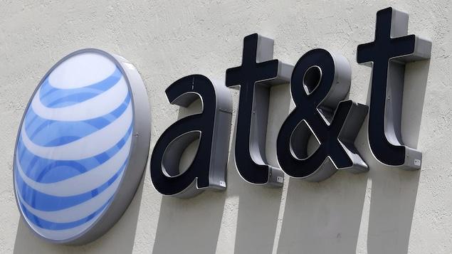Le logo de la compagnie AT&T.