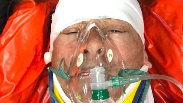 Louis Garneau a subi un accident de vélo.