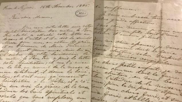 La dernière lettre écrite par Louis Riel