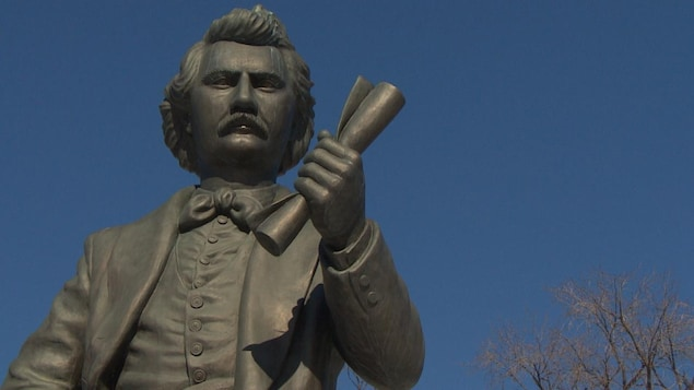 La statue de Louis Riel à l'Assemblée législative du Manitoba
