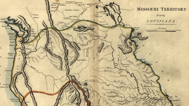 Ancienne carte de la Louisiane.