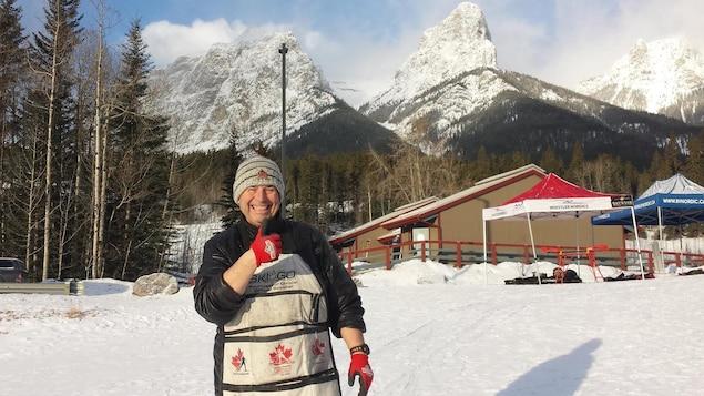 L'entraîneur de l'équipe de ski de fond du Rouge et Or de l'Université Laval, Luc Germain