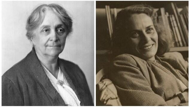 De gauche à droite, Lucie Bruneau et Gabrielle Roy