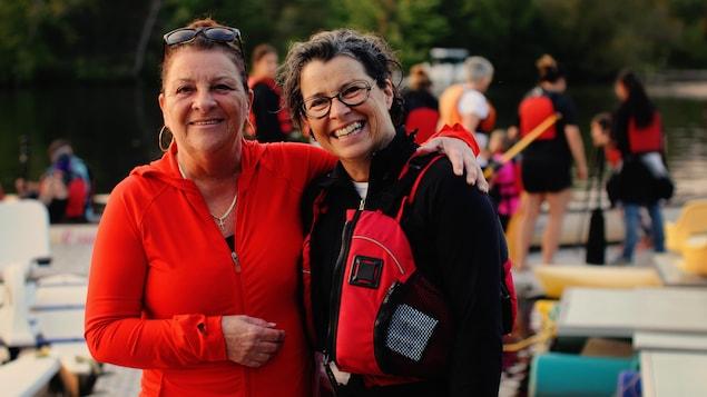 Les soeurs Lucie et Chantal St-Pierre sont les instigatrices du bateau-dragon La Méridienne.