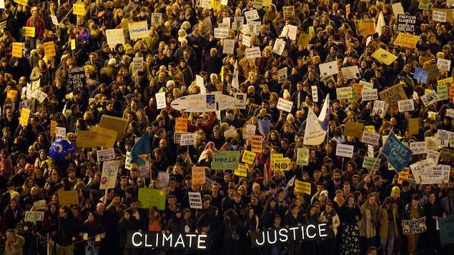 Manifestation pour le climat à Madrid.