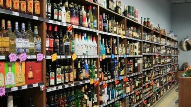 Une image d'un magasin d'alcool.