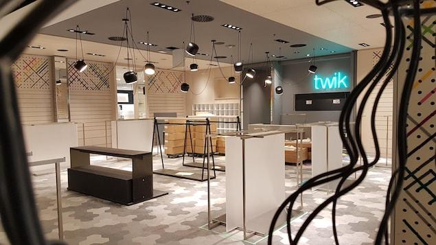 Le nouveau magasin Simons des Galeries de la Capitale à Québec avant son ouverture prévue à la mi-mars 2018