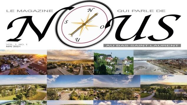 La couverture d'un magazine sur laquelle on voit plusieurs images de paysages.