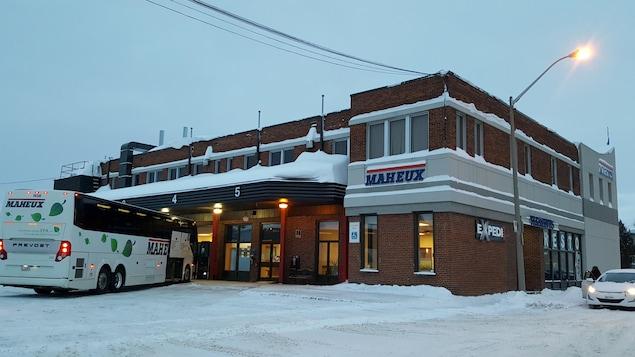 Le terminus d'Autobus Maheux à Rouyn-Noranda
