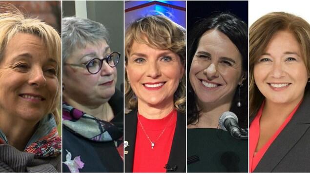 Montage photo des cinq mairesses.