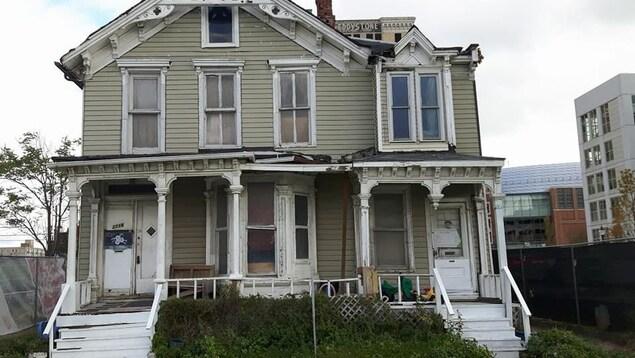 Une maison abandonnée à Détroit.