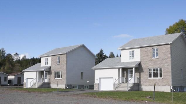 Les deux éventuelles «maisons du futur» d'Hydro-Québec à Shawinigan.