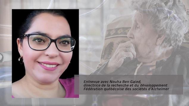 Citation sur l'image, avec la photo du visage de Mme Ben Gaied: «Ils agissent comme conseillers, ils peuvent même faire certaines démarches à distance, mais en même temps il y a ce rôle de proche aidant qui ne leur est pas accordé, qu'ils ne revendiquent pas, mais qu'ils vivent mal.»