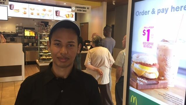 Mamy Leguen employé chez McDonald