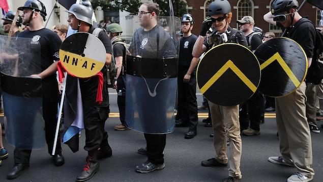 Photo de suprémacistes blancs à Charlottesville, le 12 août 2017.