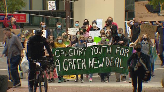 Des manifestants pour le climat.