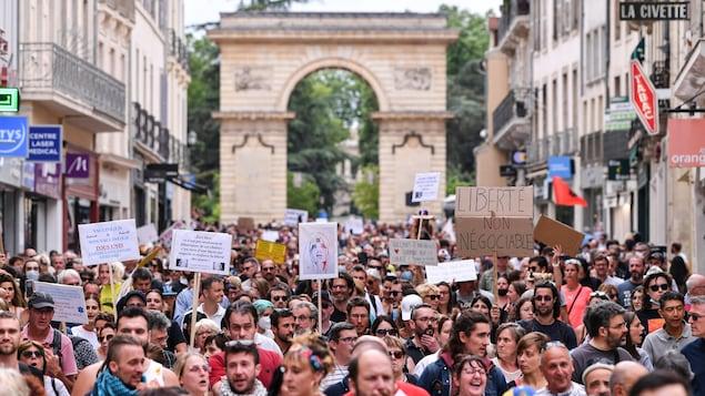 Des manifestants à Dijon.