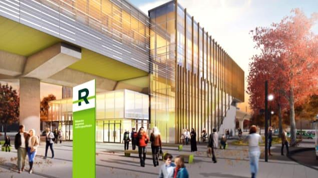 Maquette d'une station du futur REM