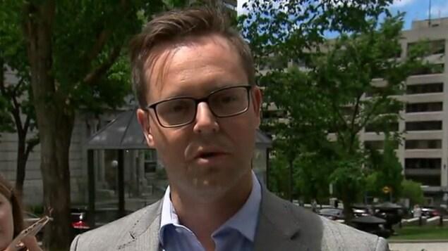 Marc-André Martin, président de l'Association professionnelle des ingénieurs du gouvernement du Québec