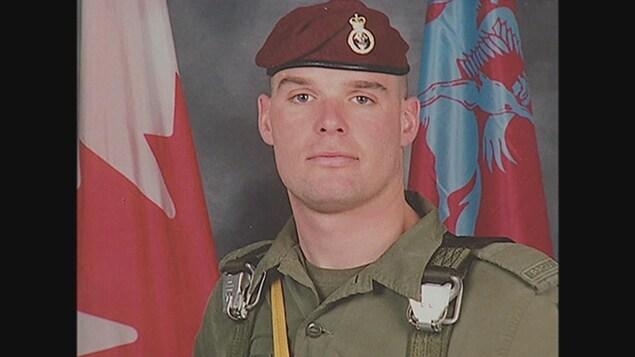 Le sergent Marc Léger en uniforme.
