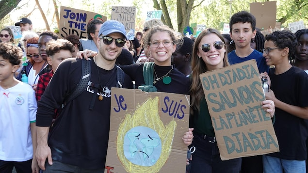 Des milliers de personnes ont participé à la marche pour le climat à Sherbrooke, le vendredi 27 septembre 2019.