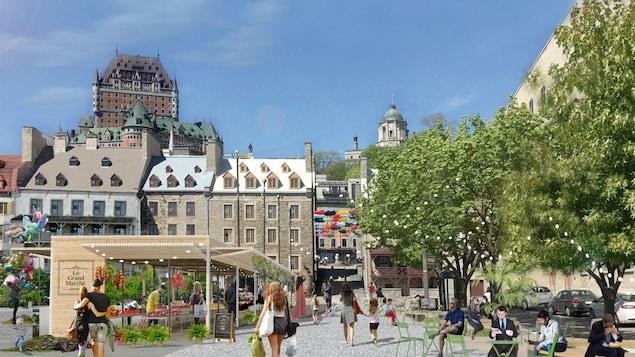 La place de Paris sera transformée en marché saisonnier.