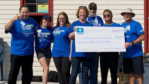 La Marche du rein de Gaspé a permis de recueillir 27 600 dollars.