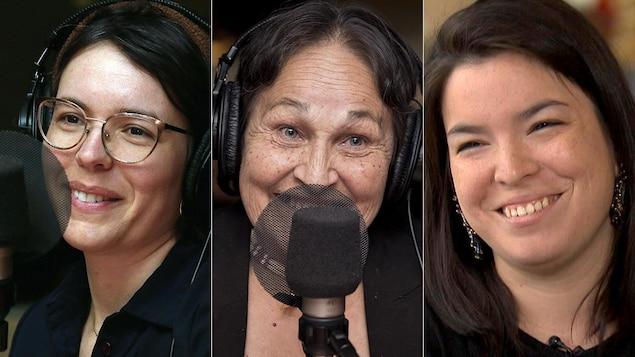 Un montage des photos de Marie-Andrée Gill, Joséphine Bacon et Natasha Kanapé Fontaine.