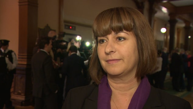 La ministre des Affaires francophone Marie-France Lalonde