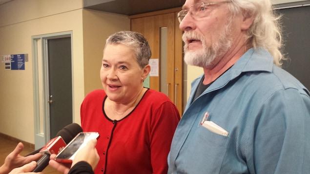 Marie-Paule Spieser et Jean Bernier du Regroupement des citoyens