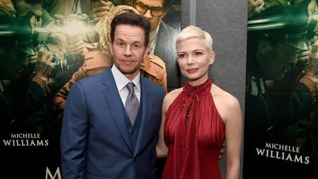 Les acteurs Mark Wahlberg et Michelle Williams lors de la première du film «Tout l'argent du monde», le 18 décembre dernier, à Beverly Hills