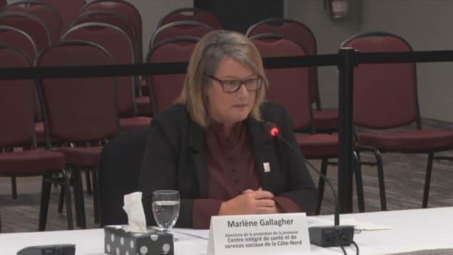 Marlene Gallagher témoigne à la commission Laurent