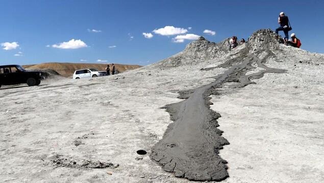 Une coulée de boue recréée sur Terre.